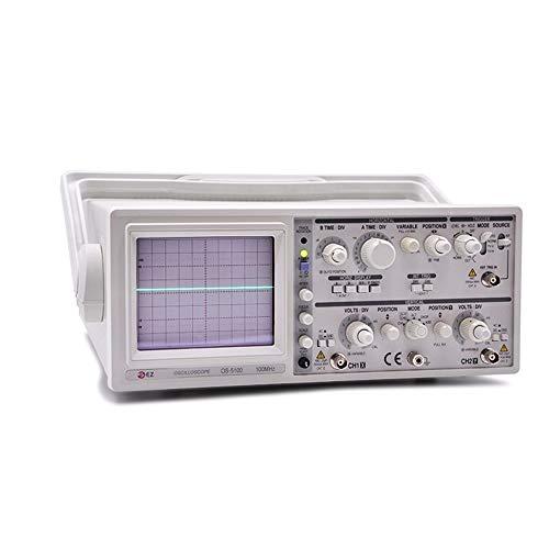 Précis Oscilloscope portatif à deux canaux avec oscilloscope analogique OS-5100 100 MHz Durable (Size : 220V)