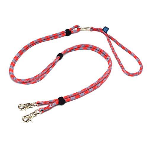 ドッグ・ギア ザイルリードタイプW ロープ径8mm 全長180cm レッド 「大切な愛犬を迷子犬にしないためのリー...