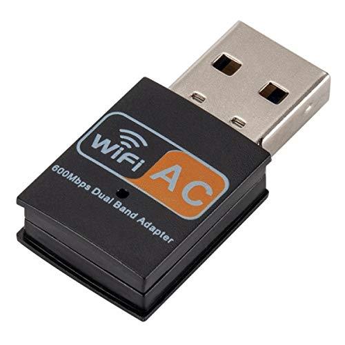 ILS - Adaptador WiFi USB de doble banda AC 600 Mbps