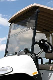 EZGO Marathon 1986-1994 Tinted Fold Down Impact Resistant Windshield for EZGO Marathon Golf Cart - Install & UNINSTALL in Minutes!