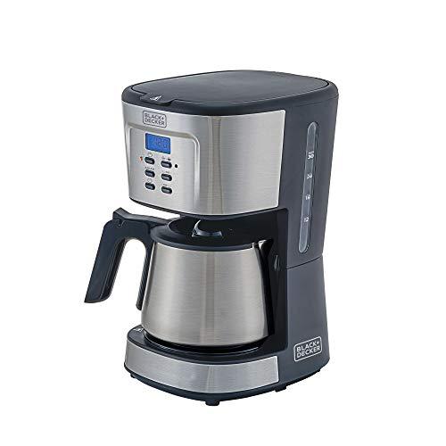 BLACK+DECKER Cafeteira Inox 30 Cafés/Xicaras Gourmand Gris 127V CM300G