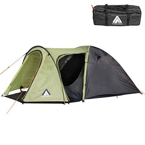 10T tent Jumbuck voor 3 of 4 personen en diverse Kleuren naar keuze, familietent met 2 ingangen, 5000 mm campingtent, waterdichte tunneltent.