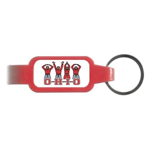 NCAA Ohio State Buckeyes OH-IO Letters People Bottle Opener Key Ring, 3.5