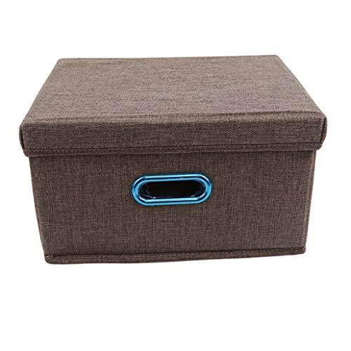 LoveAloe Boîte De Rangement Panier De Rangement De Vêtements en Tissu De Lin Repliable Cubes en Coton Et Tissu Lavable en Lin, Brun