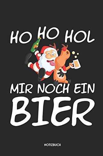 Ho Ho Hol Mir Noch Ein Bier Notizbuch: Lustiges Weihnachtsmann Notizbuch | Dotted Notebook / Punkteraster | 120 gepunktete Seiten | ca. A5 Format | ... | Weihnachtsgeschenk für Männer & Frauen