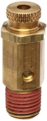 "Control Devices NC Series Brass Non-Code Safety Valve, 25-200 psi Adjustable Pressure Range, 1/4"" Male NPT from Control Devices"