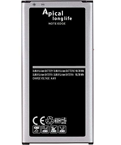 Apical Longlife Replacement Battery for Galaxy Note Edge 3000 mAh EB-BN915BBC, Compatible with - Note Edge SM-N915, SM-N915P, SM-N915R4, SM-N915A, Batería de repuesto