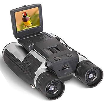 Digital Binoculars Camera Telescope Camera 2  LCD Display 12x32 5MP Video Photo Recorder with Free 8GB Micro SD Card for Watching Bird Football Game Concert