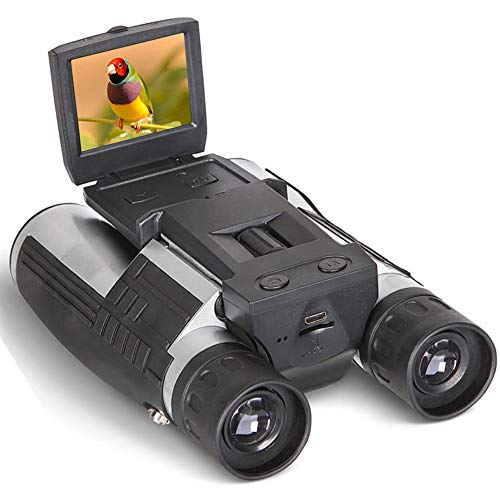 Digital Binoculars Camera Telescope Camera 2' LCD Display 12x32 5MP Video Photo Recorder with Free 8GB Micro SD Card for Watching Bird Football Game Concert