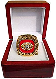 Nine Culture Replica Championship Ring for 1969 Kansas City Chiefs Gift Fashion Gorgeous Collectible Ring Super Bowl Wooden Box(Size8-13)