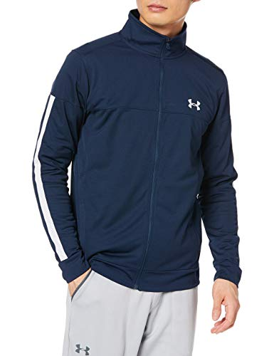 Under Armour Sportstyle Pique Track Jacket Chaqueta, Hombre, Azul (Academy/Academy/White 409), M