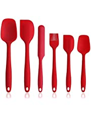 Silicone Spatula Set, 5 Piece Non-Stick & Heat Resistant Rubber Spatula Spoon Kitchen Cooking Baking Tools for Cooking,Large Spatula, Small Spatula, Whisk, Leak Shovel, Oil Brush