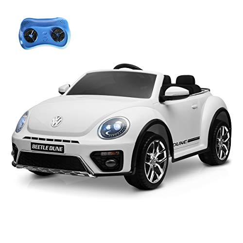 Playkin VOLKSWAGEN BEETLE BLANCO - Coche de bateria 12V para niños mando control remoto +3 años juguetes infantiles coches de bateria , color/modelo surtido