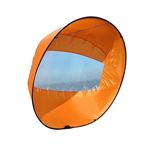 osierr6 Kayak Wind Sail, 100 cm, plegable, con ventana transparente, para kayak, canoa, bote hinchable, tabla de remo.