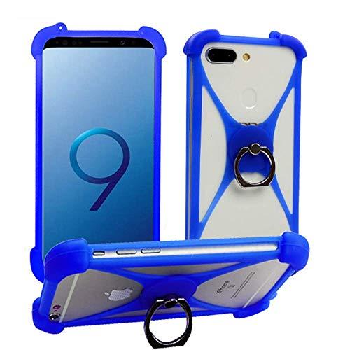 Case for Lenovo K6 C2 Power Phab 2 Plus K5 Pro K3 K9 Silicone Bumper Case Ring Kickstand Rotating Ring Grip Case Shockproof Protective Back Cover for Lenovo ZUK Edge VIBE Z K910 K900(Blue with Ring)