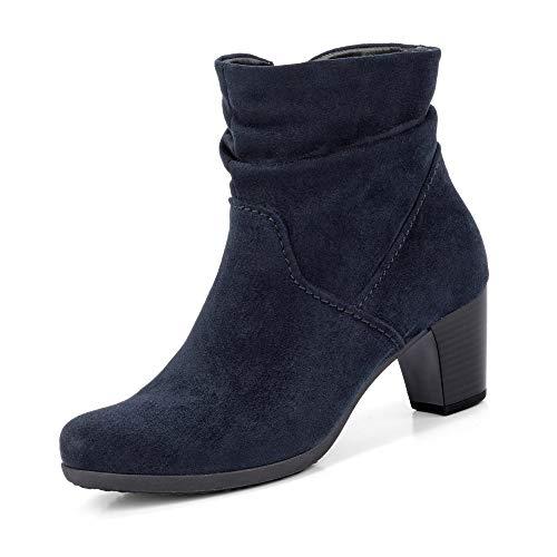 Gabor Damen Elegante Stiefeletten, Frauen Stiefeletten,Klassische Stiefelette,Optifit-Wechselfußbett,Best Fitting,Nightblue,38.5 EU / 5.5 UK