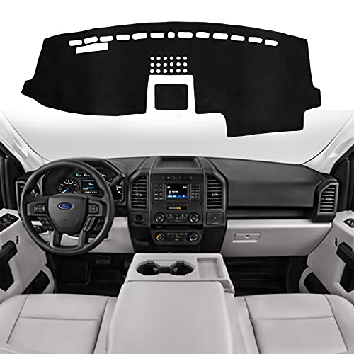 SHINEHOME Ford F150 Dashboard Cover, Dashboard Cover Mat Carpet Compatible with...