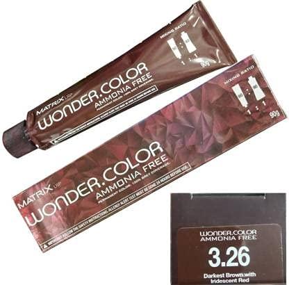 Matrix Wonder Color 3.26_90G , Darkest Brown with Iridescent Red