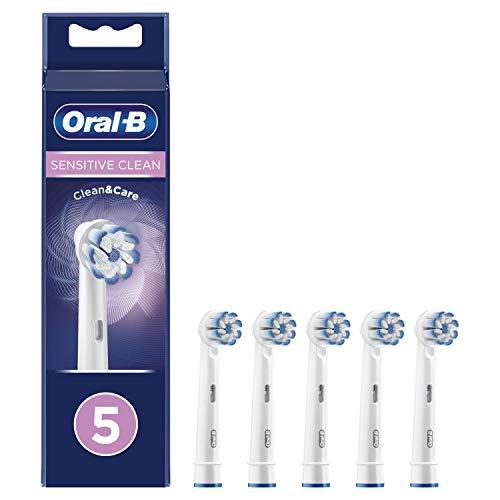 Oral-B Sensitive Clean Testine di Ricambio per Spazzolino Elettrico, Confezione da 5 Pezzi