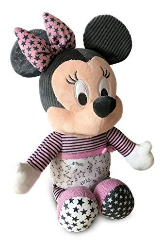 Clementoni-17395 - Baby Minnie duerme contigo - peluche bebé interactivo para dormir a partir de 6 meses