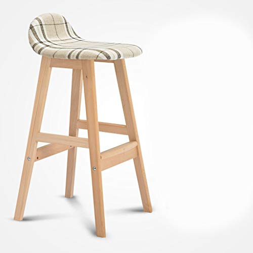 BLWX - Bar Stool Solid Wood High Stool Chair Bar Table And Chairs Front Desk Chair High Stool Bar Chair Lounge Chair Tabouret de bar (Couleur : D)