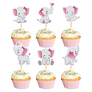 MATERIAL: The cupcake toppers are made with high quality cardstock and bamboo sticks. SIZE: Each cupcake topper is approx 2.36inch Length, 1.97inch Width. These cupcake picks can be used to decorate cupcake, cake, fruits, ice cream and more other sna...