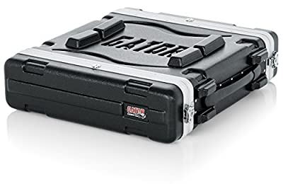 Gator Molded PE 2U 19.25 inch Deep Rack Case with Front / Rear Rails and Locking
