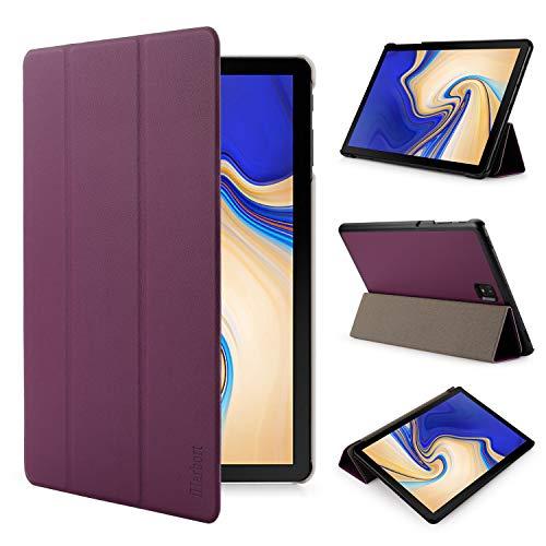 iHarbort Samsung Galaxy Tab S4 10.5 pollice custodia in pelle Cover (Pubblicato 2018 SM-T830N T835N) - ultra sottile di peso leggero Case custodia in pelle con il sonn/sveglia la funzione, viola