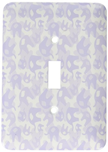 3dRose lsp_53531_1 Double Lavender Elephants Toggle switch