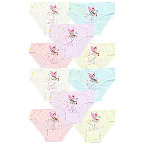 TupTam Mädchen Slips mit Aufdruck 10er Pack, Farbe: Farbenmix 8, Größe: 92-98