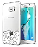 Funda para Samsung Galaxy S6 Edge Plus Inch [Transparente] [Resistente a los Arañazos] [1,0mm Ultra Delgado] Cover Piel de Gel Suave TPU Suave Cubierta Protectora Suave Delgada Protective (Gato)