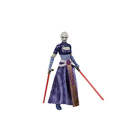 Star Wars The Black Series Asajj Ventress Toy 6-Inch Scale The Clone Wars Collectible Action Figure, Toys for Kids Ages 4 and Up