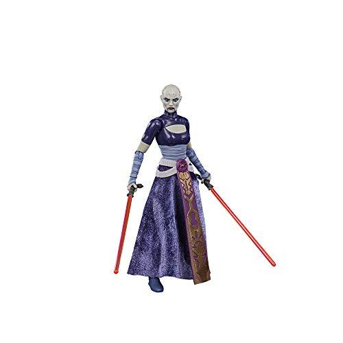 Star Wars Black Series Asajj Ventress Toy 6 Pulgadas Escala The Clone Wars Figura de acción Coleccionable, Juguetes para niños a Partir de 4 años (Hasbro F1861)
