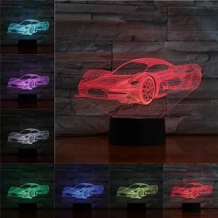 Luces LED de superdeportivo 3D en varios colores y decoración de regalo...