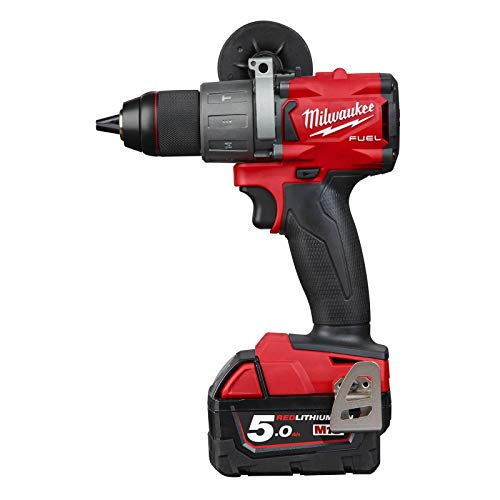 Milwaukee 4933464264 Taladro de Batera Combustible, 18 V, Rojo y Negro