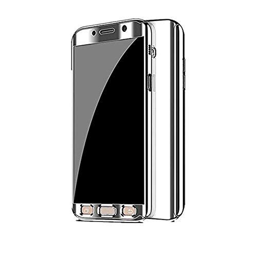Kompatibel Samsung Galaxy S7 Hülle, Samsung Galaxy S7 Edge Hüllen 3 in 1 Ultra Dünner PC Harte Case 360 Grad Ganzkörper Spiegel Schutzhülle für Galaxy S7/S7 Edge (Samsung Galaxy S7, Silber)