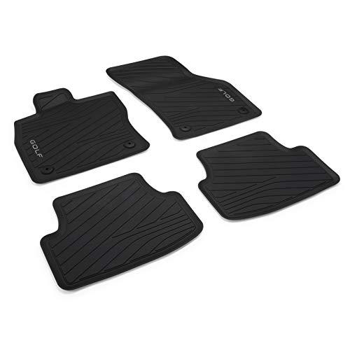 Volkswagen 5H106150082V Gummi Fußmatten Premium Allwettermatten 4X Gummimatten, mit Golf Schriftzug, Nicht für Mild-Hybrid MHEV (PR-Code 0K4)