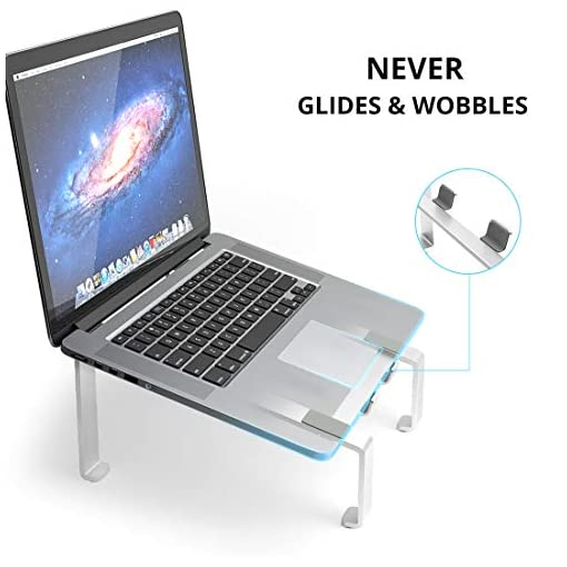 Soporte Portatil, Soporte Ordenador Portatil Elevador Portatil Mesa Gaming Laptop Stand, Compatible con Macbook Pro Air… 4