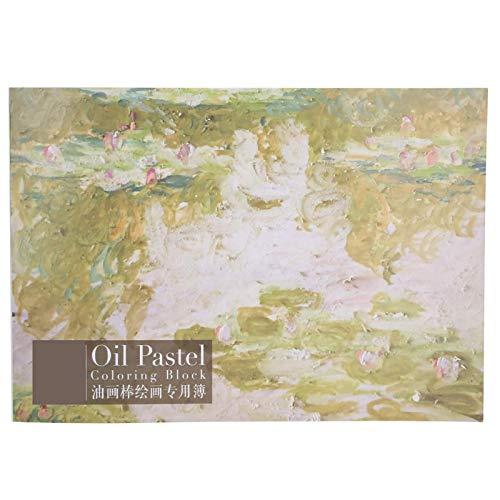 Shipenophy Cuaderno de bocetos, fácil de Colorear, práctico Libro de Acuarela de Papel Plano para bocetos de 180 ° para Amantes de la Pintura