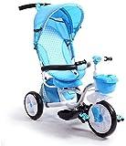 Ccgdgft Replier bébé Chariot Enfants Tricycle vélo 1-6 Ans Bébé Vélo/bébé vélo Enfants Buggy Chariot vélo (Bleu)