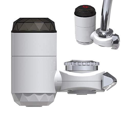 4U.RX013 Grifo de agua caliente instantáneo Grifo del calentador de agua eléctrico sin tanque Instalación de conexión externa Pantalla digital de agua caliente fría gratis
