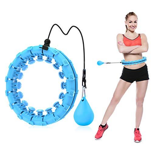 ShinePick Hullahub Reifen, Niemals Fallen Hula Reifen, Einstellbar Breit Fitnessreifen, Fitness Hoop mit Massagenoppen zur Gewichtsabnahme, für Erwachsene Jugendliche Anfänger(Lila)
