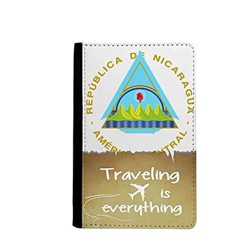 Nicaragua Emblema Nacional Viajar Quato Pasaporte titular de la cartera de viaje Funda de la tarjeta