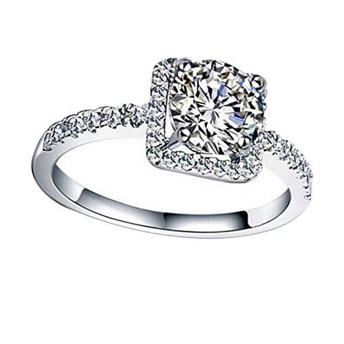 Womens Exquisite White Sapphire versilbert gefüllt Ehering Schmuck New Sale Hochzeit Zubehör - Silber