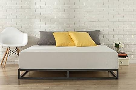 Zinus Cama de plataforma Joseph Modern Studio de 15,2cm, Base para colchón, Sin necesidad de usar un somier, Sólido soporte de listones de madera, Fácil montaje, 150 x 190 cm