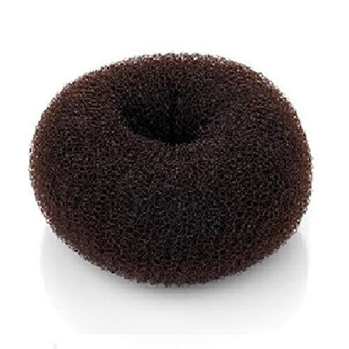 Beaute Galleria Hair Donut Bun Maker Ring Style Mesh Chignon Ballet Sock Bun (Medium, Brown)