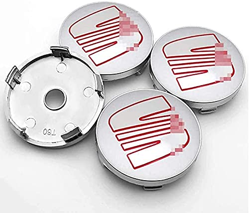 4pcs 60mm Metal Centro Tapacubos Tapas De Cubo De Centro De Rueda De Coche De Logotipo De Centro De Accesorios Para SEAT Minimo Ibiza Alhambra Exeo Toledo Altea