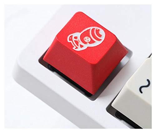 juqingshanghang1 1 stück Keycap-Farbstoff- und Skulptur PBT Keycap für mechanische Tastaturen Farbstoff Sub Legends Atomic Fallout 4 rot weiß (Color : Atomic Bomb Kcap x1)