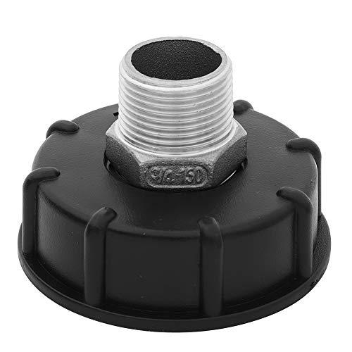 """Adaptador IBC de 1000 L, de acero inoxidable, para grifos de drenaje de jardín, interruptor de riego, herramientas (3/4"""", 1/2"""", 1"""" para Choose) (cable exterior de 3/4"""")"""