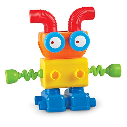 Learning Resources 1-2-3 Build It! Robot Factory, Fine Motor Toy, Robot Building Set, Ages 2+